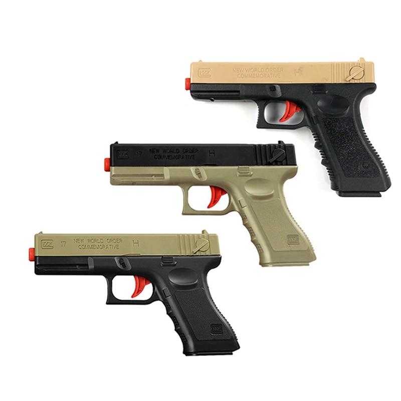 2pcs Plástico M1911 Glock Arma de Brinquedo Arma Pistola Manual De Água Bola Gel Tiro Criança Meninos do Presente do Brinquedo Jogo Ao Ar Livre para As Crianças de Natal