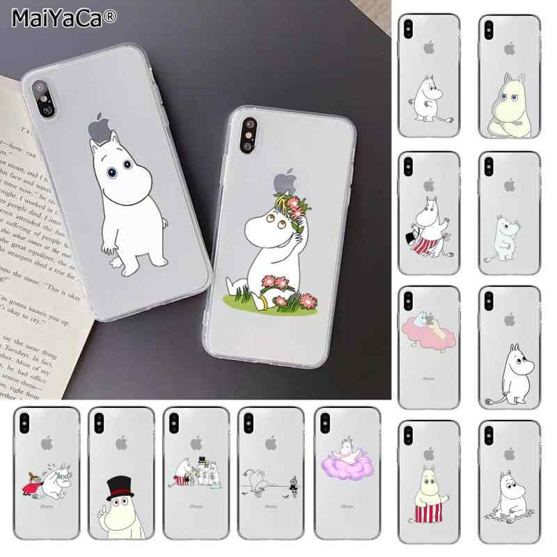 MaiYaCa Lovely hippo Moomin Transparent TPU Soft Phone Cover for iPhone 11 pro XS MAX 8 7 6 6S Plus X 5 5S SE XR cover