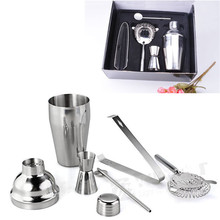 5pcs/Set 350ml Stainless Steel Cocktail Shaker Mixer Drink Bartender Tool Kit Bar Tools drop shipping