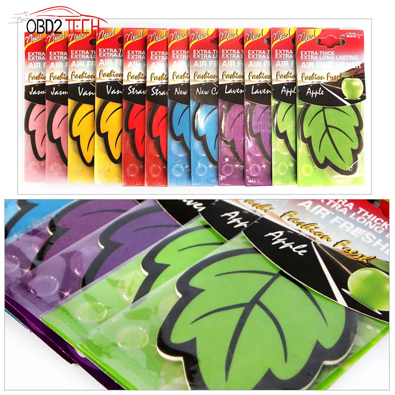 6 PCS Auto Shine Paper Hanging Car Air Freshener Natural Fragrance Leaf Shape Perfume Car Accessories Interior For Car/Home/Boat