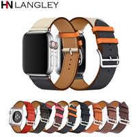 Correa de cuero para apple watch banda 4 42mm 38mm correa de la venda de reloj para apple watch pulsera 44mm 40mm 3/2/1 cinturón de muñeca