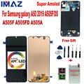 IMAZ Super AMOLED LCD For Samsung Galaxy A50 2019 A50 A505F/DS A505F A505FD A505A Touch Screen Digitizer Assembly For A505 LCD