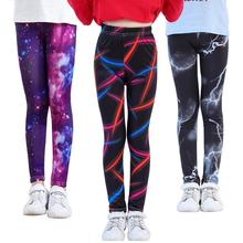 VEENIBEAR New Style Print Girl Leggings Skinny Cool Summer Girl Pants Children Kids Pants Baby Girl Clothes Trousers 4-11Y cheap Girls Polyester Rayon Spandex 4-6y 7-12y CN(Origin) Flowers PATTERN Washed panelled Ankle-length Fits true to size take your normal size