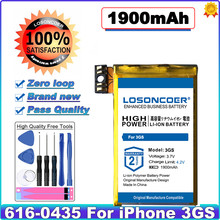 Losoncoer 1900mah para iphone 3gs bateria com kit de ferramentas de reparo