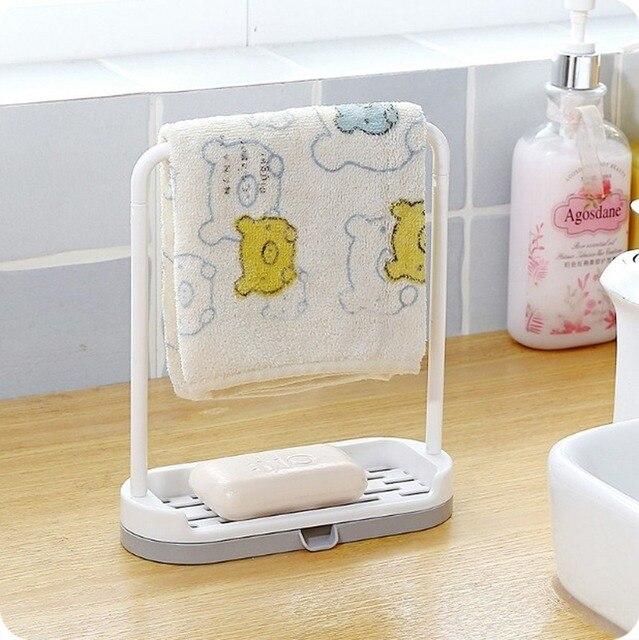 Фото съемная кухонная утварь вешалка для полотенец держатель губок
