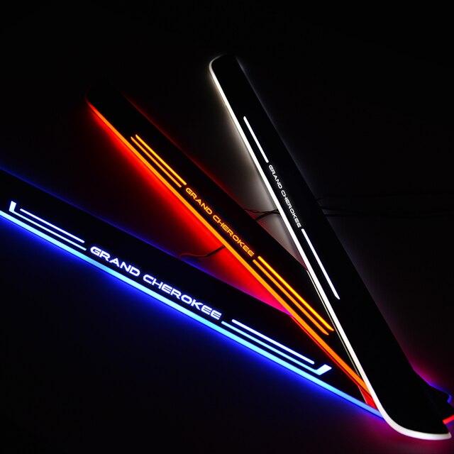 רכב LED סף דוושה בברכה אור דלת אדן שפשוף צלחת עבור Jeep Renegade מצפן פטריוט צ רוקי רנגלר גרנד צ ירוקי