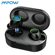 Mpow TWS Bluetooth 5.0 Earbuds Wireless Headphones with Portable Charging Case IPX7 Waterproof in-Ear Earphones With Mic Hot New original mpow flame bluetooth headphones hifi stereo wireless earbuds waterproof sport earphones with mic portable carrying case