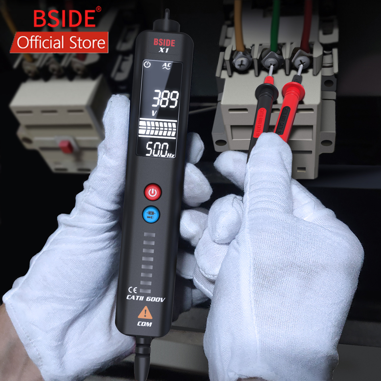 BSIDE X1 EBTN Spannung Tester 3-Linie Große LCD Volt Detector Nicht kontaktieren Dual Range AC Spannung Sensor Stift live Draht Überprüfen + Fall