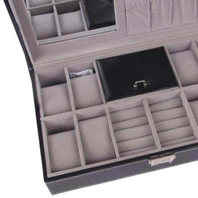 caixa de relógio com caixa de jóias titular WT-61