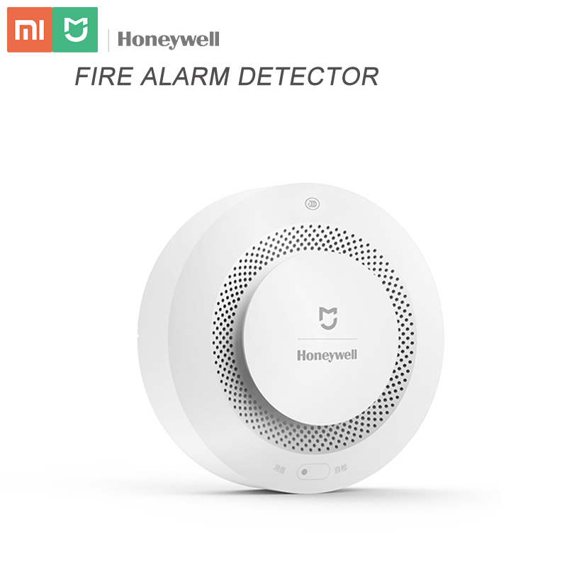 Original aqara honeywell fumaça detector de alarme sonoro visual sistema de segurança incêndio para xiao mi jia mi casa app aqara casa