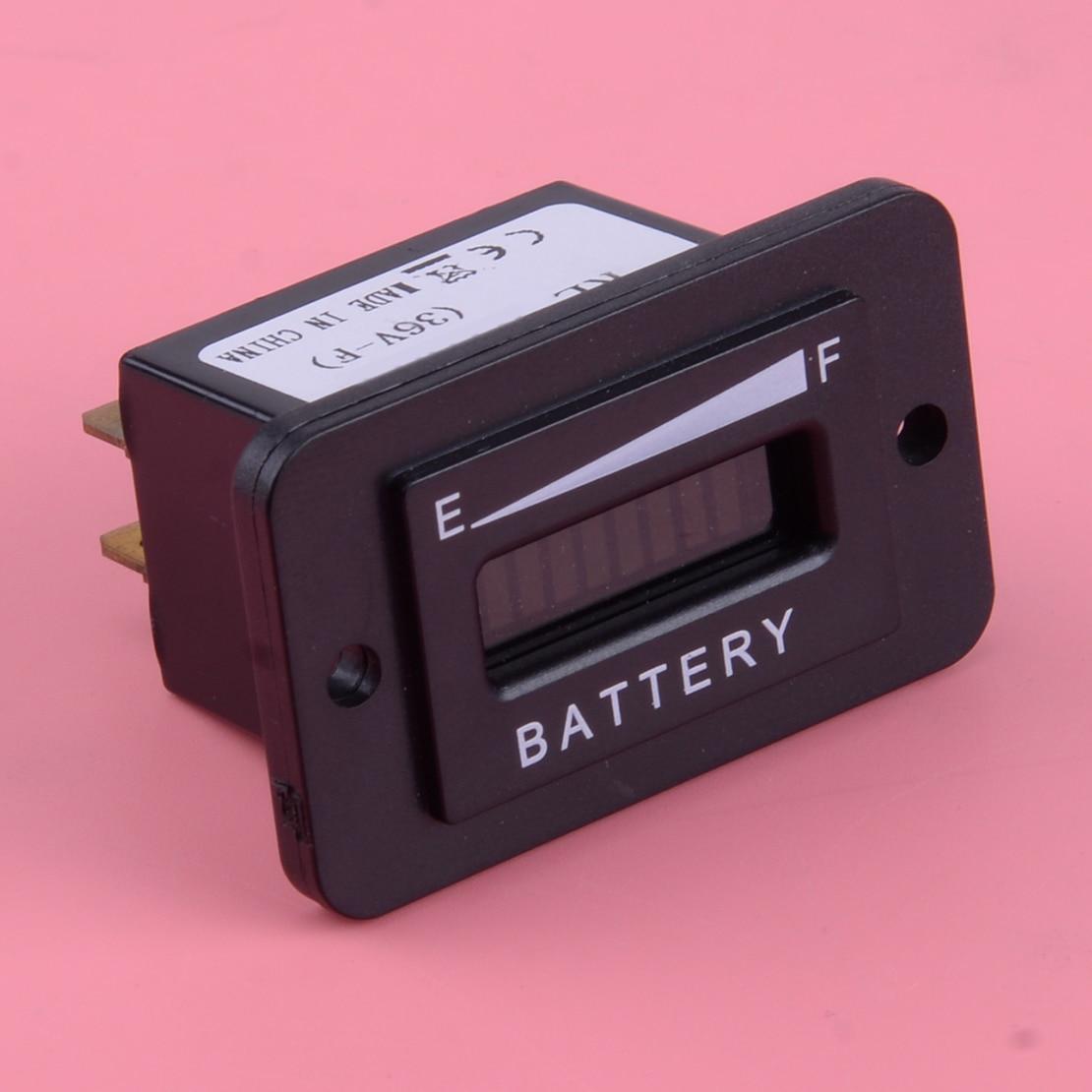 36 Volt Battery Indicator Meter Gauge Black Fit For EZGO Club Car Yamaha Golf Cart Boat ATV