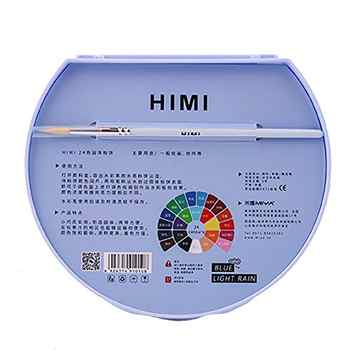 MIYA HIMI Water Colors Palette 24/38 Assorted Colors Solid Watercolor Paint Set portable solid powder gouache painting pigment f
