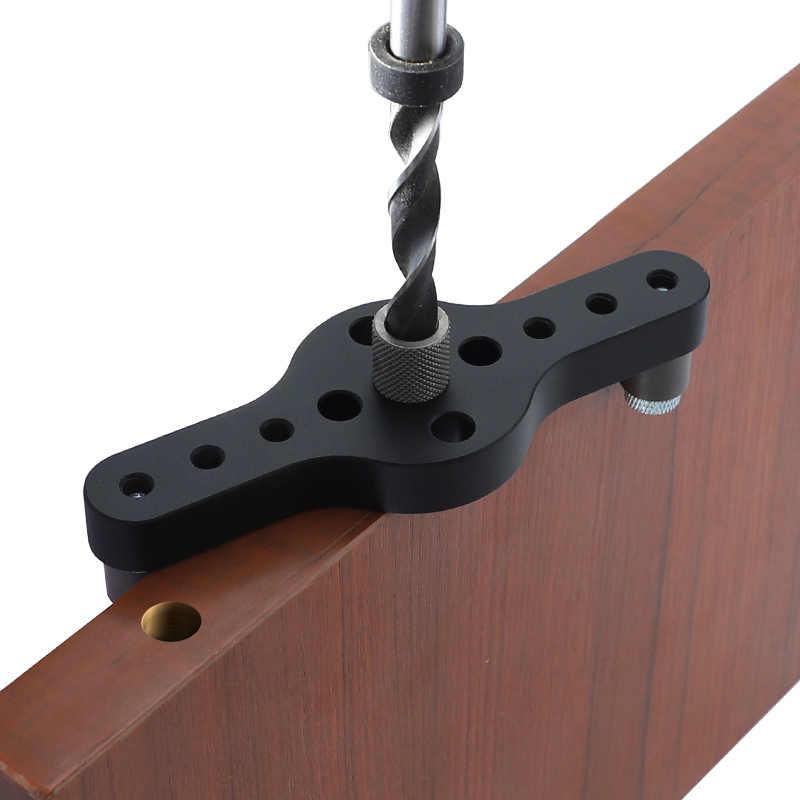 ダボ用 6 8 10 ミリメートル木製関節掘削調節可能なポケット穴ジグアルミ合金木工ドリルガイドツール大工