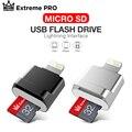 Устройство для чтения TF-карт «подключи и работай», адаптер Lightning/Micro SD, не требует драйвера для iPhone 6/6s/6plus/7/7plus/8/X Usb/Otg/Lightning, 2 в 1