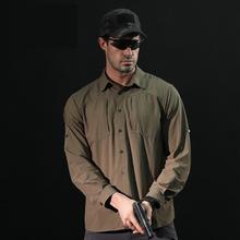 Marka męska Tactical Airsoft odzież szybkoschnący wojskowe armii koszulce lekkie koszula z długim rękawem mężczyźni walki piesze wycieczki koszule tanie tanio AYLOCO Pełna NYLON COTTON Quick dry shirt01 Camping i piesze wycieczki Pasuje prawda na wymiar weź swój normalny rozmiar
