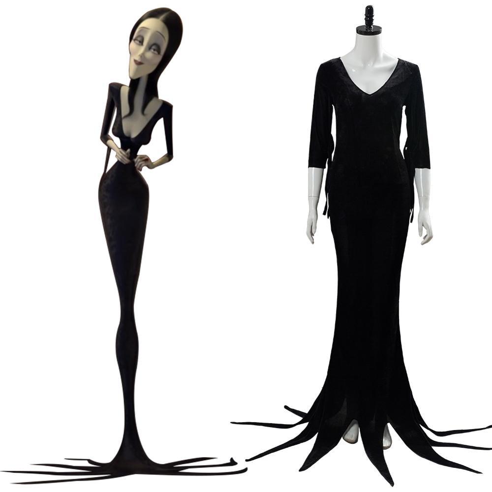 Childrens School Girl Costume Robe Fantaisie Mercredi Addams Halloween XL