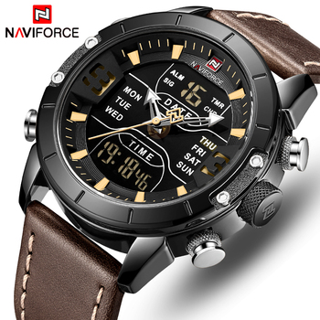 NAVIFORCE Watch Men Top Luxury Brand Leather Waterproof Quartz Wristwatches Military Sport Men's Watches Date Relogio Masculino