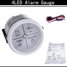 Alarm-Gauge Pressure-Alarm-Indicator-Meter Boat-Truck Water-Temp-Oil Auto 52MM Volt Car