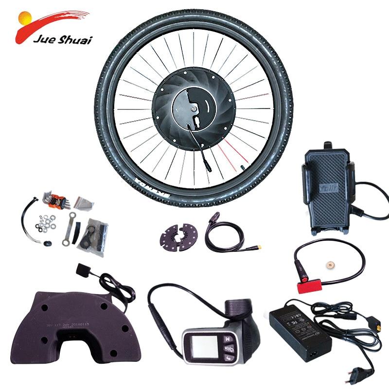 iMortor Electric Conversion Bicycle Kit With Battery Brushless Gear Hub Motor Wheel e bike For Bicicleta Eletrica Ebike MTB Kit|Electric Bicycle Motor| |  - title=