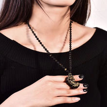 Золотистый обсидиан кулоны pixiu бусины ожерелье ручной работы
