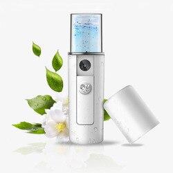 Tragbare Nano Nebel Sprayer Gesichts Dampfer Feuchtigkeits Schönheit Instrument USB Ladung Handliche Zerstäubung Mister Gerät Schönheit Werkzeug