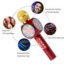 Модный ручной беспроводной микрофон KTV, динамик, реверберация, голосовой конденсатор, запись караоке, живой объемный звук