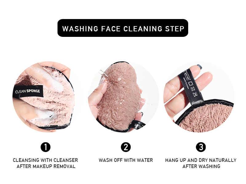 Cuci Wajah Puff Lembut Flannelette Makeup Angkat Puff Wanita Kecantikan Makeup Mencuci Wajah Alat Kosmetik Powder Puff TSLM1