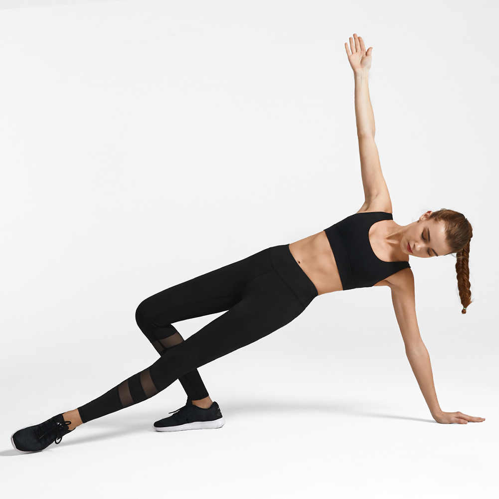 Gorąca sprzedaż kobiet Comforty spodnie do jogi elastyczna siatka Patchwork legginsy spodnie sportowe do biegania X85