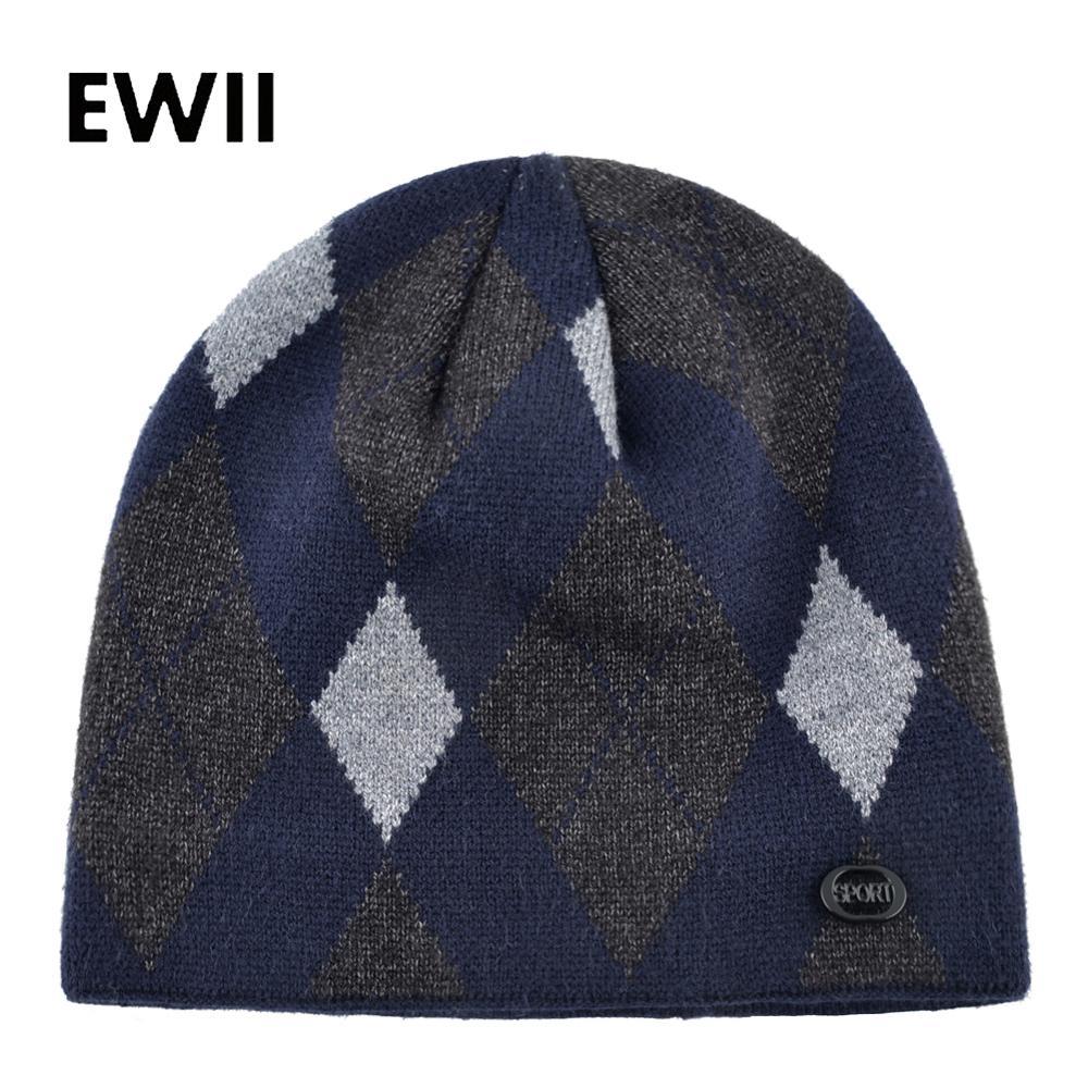 Winter Fashion Hat For Men Women Knitted Soft Warm Thermal Wool Head Skullies