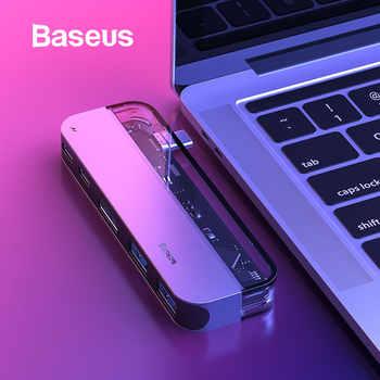 Baseus USB C HUB to Multi HDMI USB 3.0 USB HUB for MacBook Adapter Accessories Pro Thunderbolt 3 SD Card Reader Type-C USB HUB - DISCOUNT ITEM  20% OFF All Category