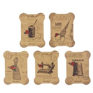 Image 2 - 100 個紙糸カード刺繍糸ボビンため収納ホルダークロスステッチ紙ボード