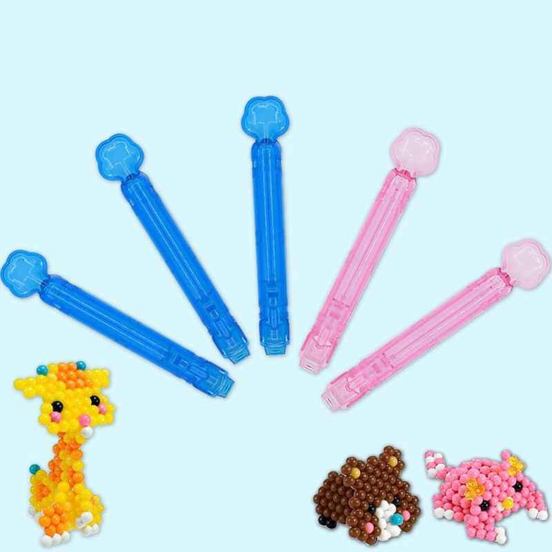 Crianças brinquedos educativos diy artesanal água pegajoso contas de feijão mágico caneta plástico solúvel em água nevoeiro feitiço feijão acessórios ferramentas