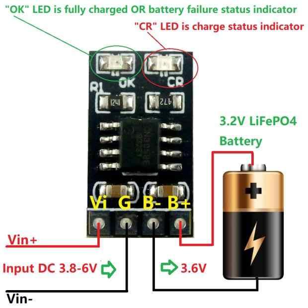DYKB 1A 3.2V 3.6V LiFePO4 بطارية ليثيوم شحن وحدة شاحن بطارية الخليوي المدخلات 3.8V 4.2V 4.5V 5V ل Ebike UPS سيارة الشمسية