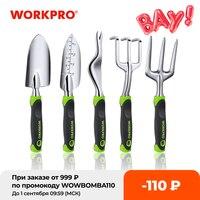 WORKPRO 5 PC Garten Werkzeug Set Cast Aluminium Outdoor Gartenarbeit Arbeiten Hand Tools Kit für Männer und Frauen, Darunter Kelle