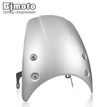 BJMOTO Motorcycle Windscreen Windshield Wind Screen Shield with Mounting Holder Bracket  For BMW R NINE T  RNINET R9T 2014-2019 for bmw g310r 2017 on motorcycle windshield windscreen with mounting bracket high quality abs plastic