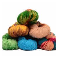 Agradable a la piel de bebé, hilo de lana de Eco-hilo teñido de hilo de seda, hilo de punto de ganchillo hilo de costura segmento de hilo teñido