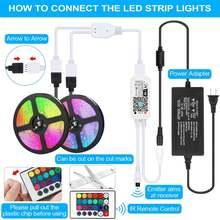 Цветная (rgb светодиодный лента светильник для комнаты ing 24v