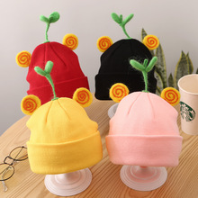 hedging cap 6M-2Y autumn and winter  baby girl hat kids angel wings beanie infant Y371