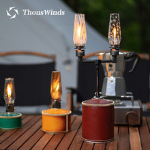 Thos-lanterne à gaz Portable, lampe éolienne, luminaire pour le Camping, idéal pour une tente