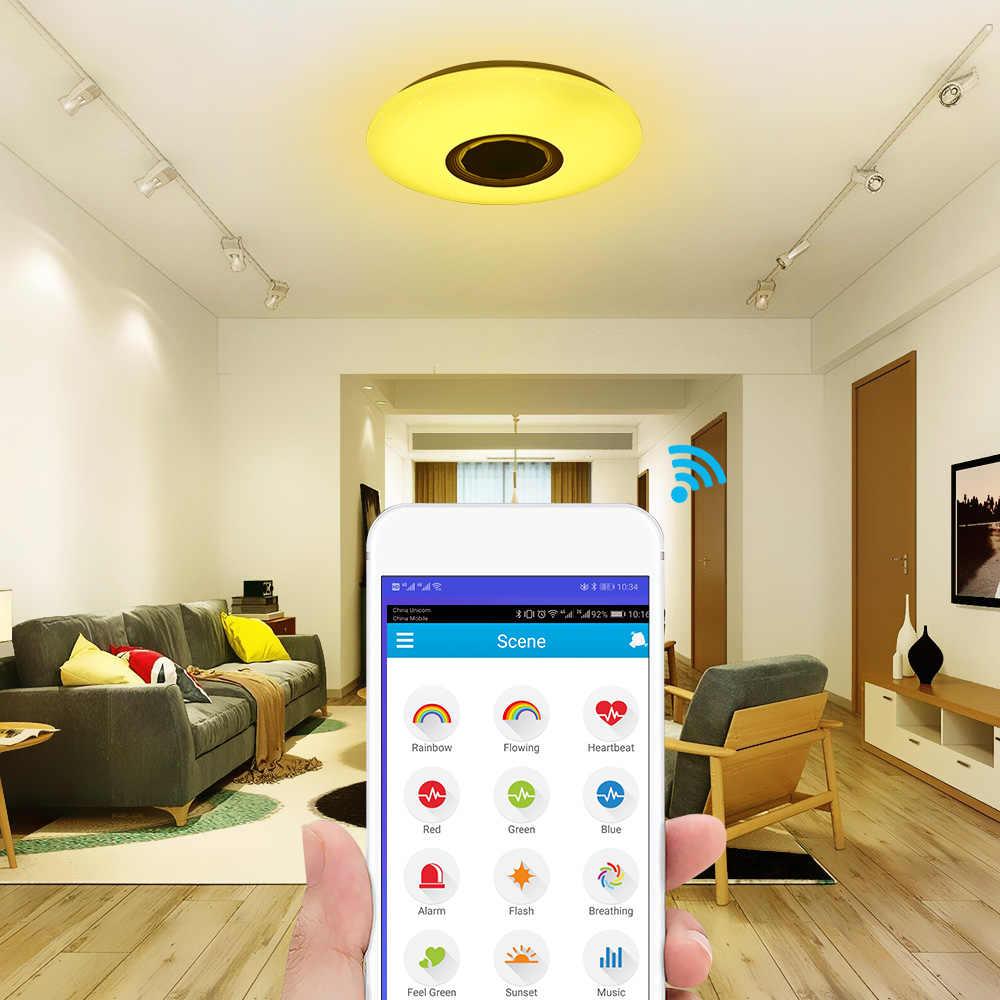 Smart Led Plafond Verlichting Rgb Dimbare 36W App Afstandsbediening Bluetooth Muziek Ster Licht Slaapkamer Diamant Glans Plafondlamp