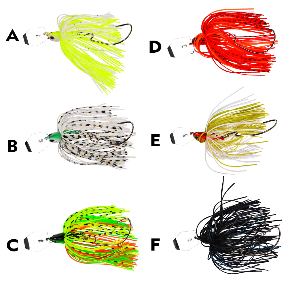 20g spinner bait fishing lure Buzzbait chatterbait wobbler isca artificial rubber skirt Chatterbait for bass pike walleye-1