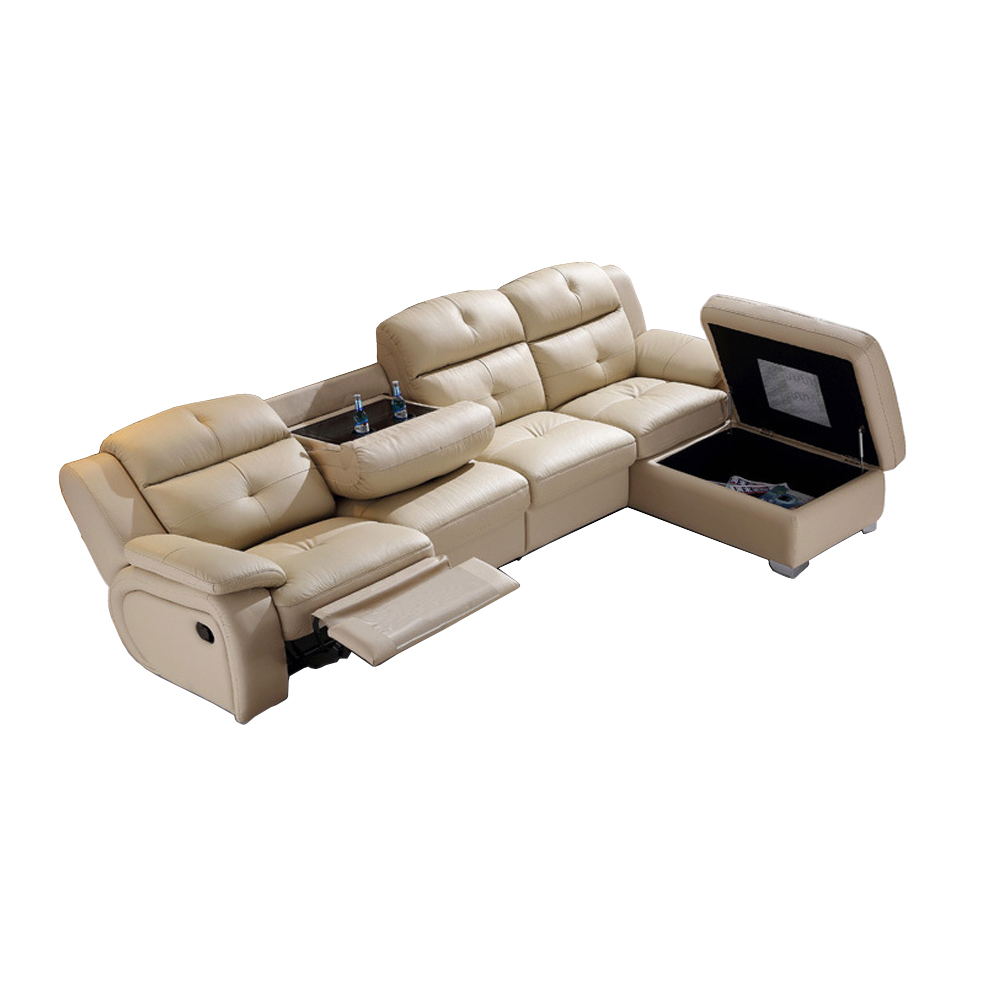 Living Room Sofa set L corner sofa recliner electric couch genuine leather sectional sofas L muebles de sala moveis para casa image