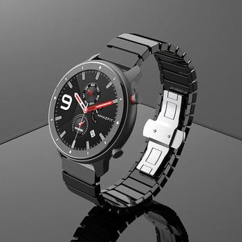 Ceramic Watch Bracelet For Xiaomi Huami Amazfit GTS GTR 42 47 Smart Watch Strap For Amazfit Bip Lite Pace Stratos Watch Band