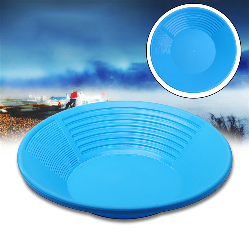 1 PC Plastic Gold Pan Gold Basin For Sand Mud Mineral Processing Gold Rush Tools