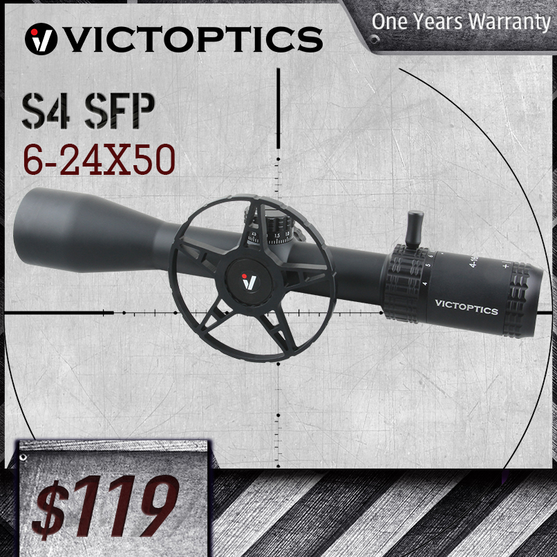 VictOptics AGN 6-24X50 MDL Optical Scope 30mm Tube 1/10 MIL For Hunting Sniper Airsoft Guns Fire Arms Riflescope AR15 .223 5.56
