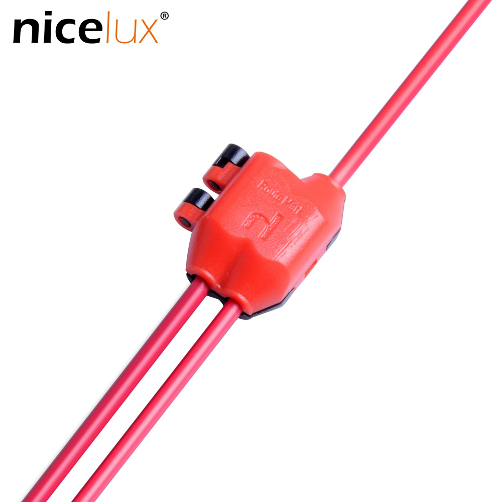 Y shape 3 Way 1pin Wire Connector Terminal Blocks for 20-22AWG Cable Connet Scotch Lock Quick Splice Crimp LED Car Audio Spade