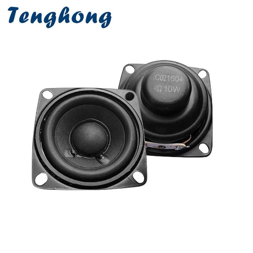 Tenghong Audio Portable Speakers Subwoofer Midrange 2inch Home Theater 2pcs 1 10W