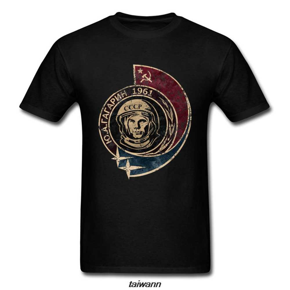 Футболка с космическим кораблем Yuri Gagarin Россия CCCP, космонавт, Sputnik, Москву, Космический космический корабль, ретро-футболка, черная футболка для мужчин