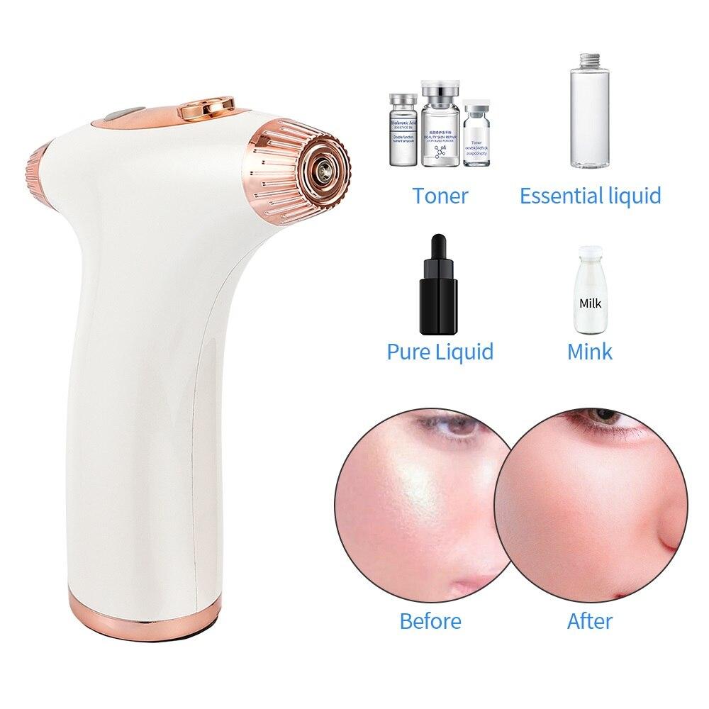 Rechargeable Facial Body Steamer Oxygen Meter Hydrating Face Moisturizing Rejuvenation Spray Machine Whiten Skin