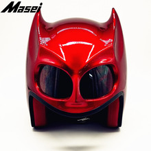 цена на Masei BatMan helmet motorcycle Vintage Retro helmet Dark Knight helmet open face helmet casque Motocross Off Road Touring helmet